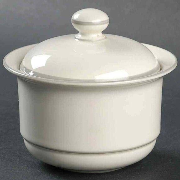 Lenox Chinastone For The Grey Patterns Sugar Bowl